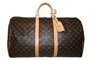 Louis Vuitton Classic Monogram Keepall 55 Travel Bag