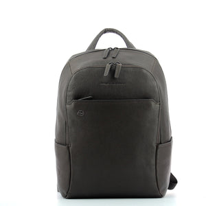 Piquadro - Computer Backpack Black Square 14.0 - CA3214B3 - TESTA/MORO