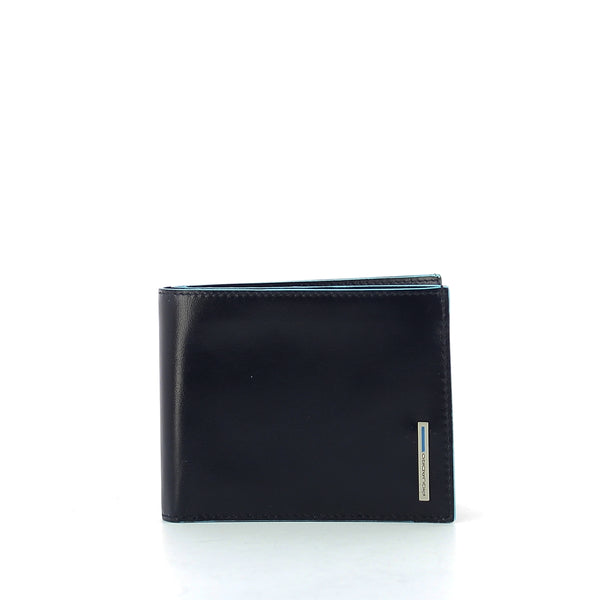 Piquadro - Wallet with coin pouch Blue Square - PU1239B2R - BLU/2