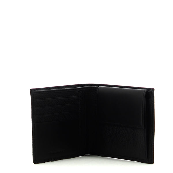 Piquadro - Men wallet with coin pouch Ili - PU257S86 - NERO