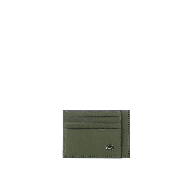 Piquadro - Pocket credit card pouch Black Square - PP2762B3R - VERDE