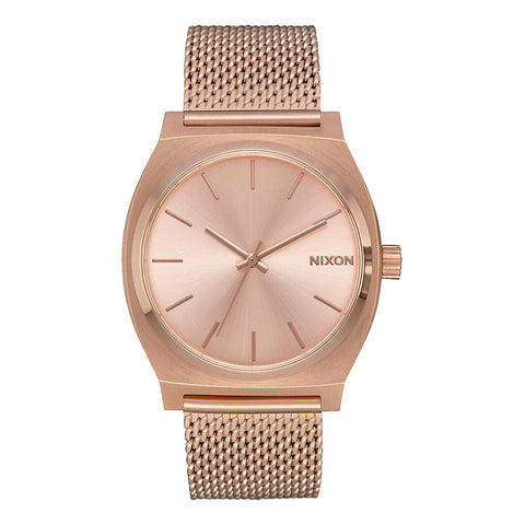 Nixon - Orologio Time Teller Milanese 37 mm All Rose Gold - A1187-897 - ALL/ROSE/GOLD