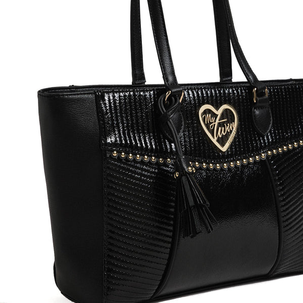 My Twin - Patent effect shopper - 192MO8010 - NERO