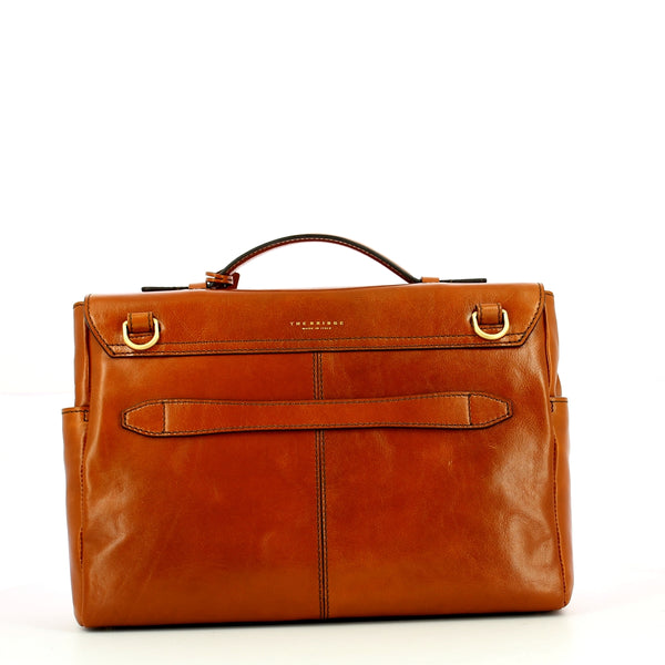 The Bridge - Capalbio 14.0 Computer Briefcase - 06204801 - COGNAC/ABB./ORO