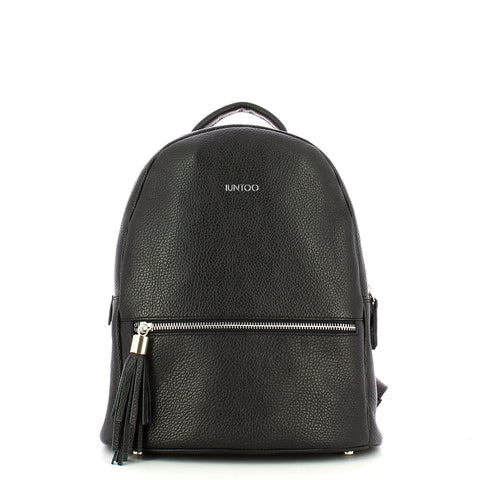 Iuntoo - Double Compartment Backpack Leather Armonia - 168030 - NERO