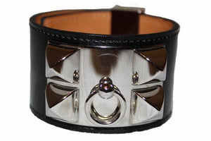 Hermes Black Box L Collier De Chien CDC Bracelet