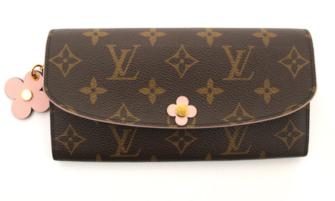 Louis Vuitton Monogram Canvas Morning Bloom Flower Emilie Long Wallet
