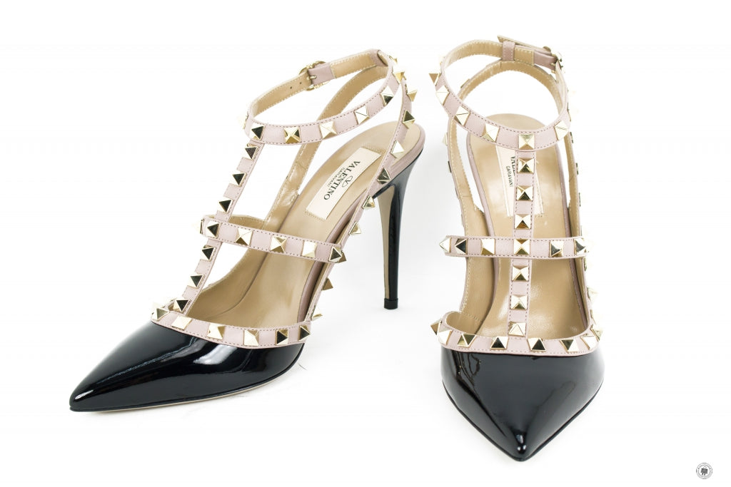 46b713ce27 Valentino NW2S0393VNW Rockstud Ankle Strap 100MM / 4