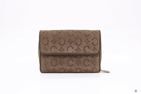 celine-suede-with-embossed-logo-with-metallic-leather-short-wallet-IS036081