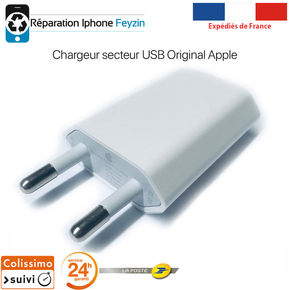 Chargeur secteur iPhone - Original Apple