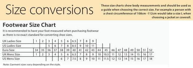 Size Charts – GS Workwear