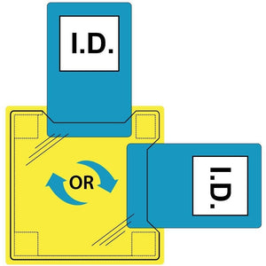 Portwest Dual ID Holder - Sew-On Clear   ID20