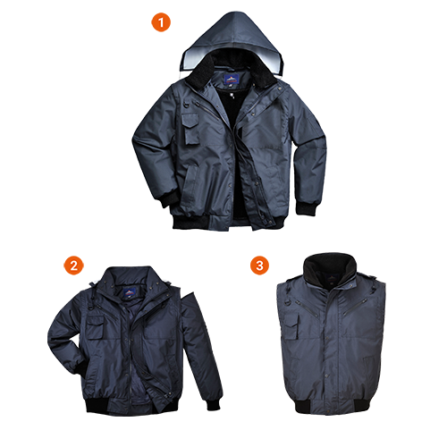 Portwest 3-in-1 Bomber Jacket F465
