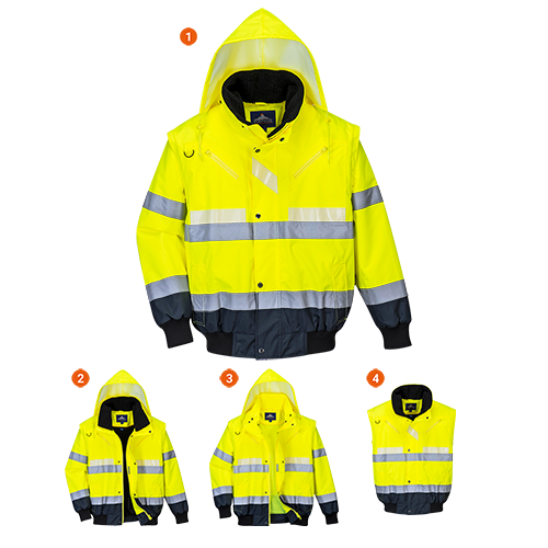 Portwest Glowtex 3in1 Bomber Jacket G465