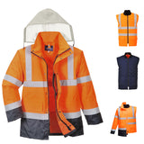 Portwest Hi-Vis 4-in-1 Contrast Traffic Jacket S471