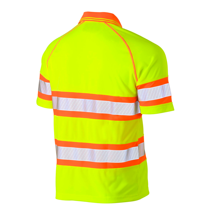 Bisley Taped Double Hi Vis Mesh Polo