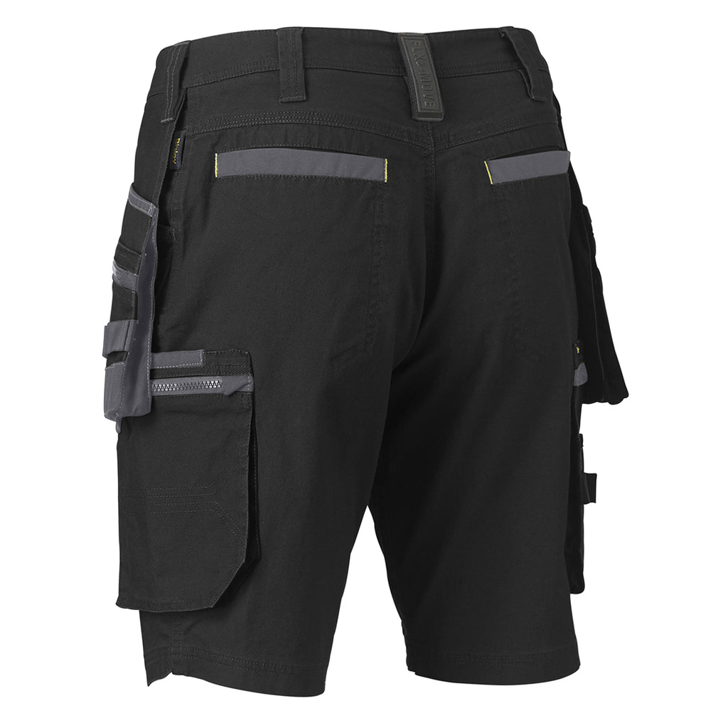 Bisley Shorts Flex & Move Stretch Canvas Cargo Holster Tool Pockets