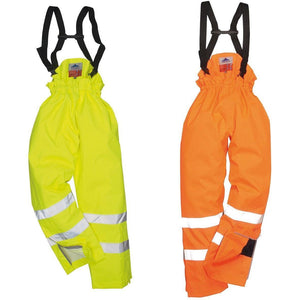 Portwest Bizflame Rain Unlined - Hi Vis Antistatic FR Trouser S780