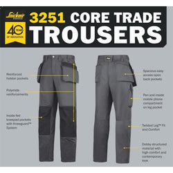 Snickers Core Craftsman Trousers