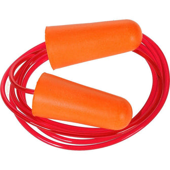 Portwest Corded PU Foam Ear Plug Orange One Size  EP08