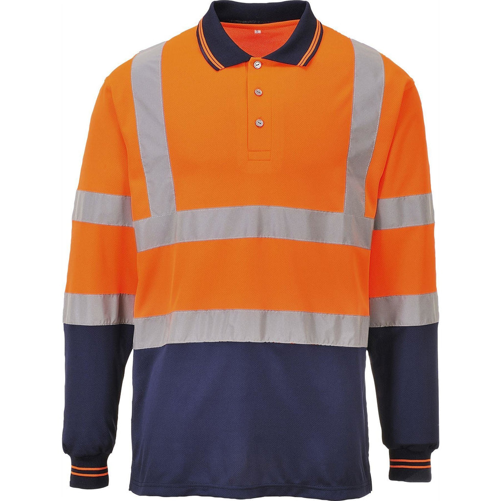 Portwest Two-Tone Long Sleeved Polo S279