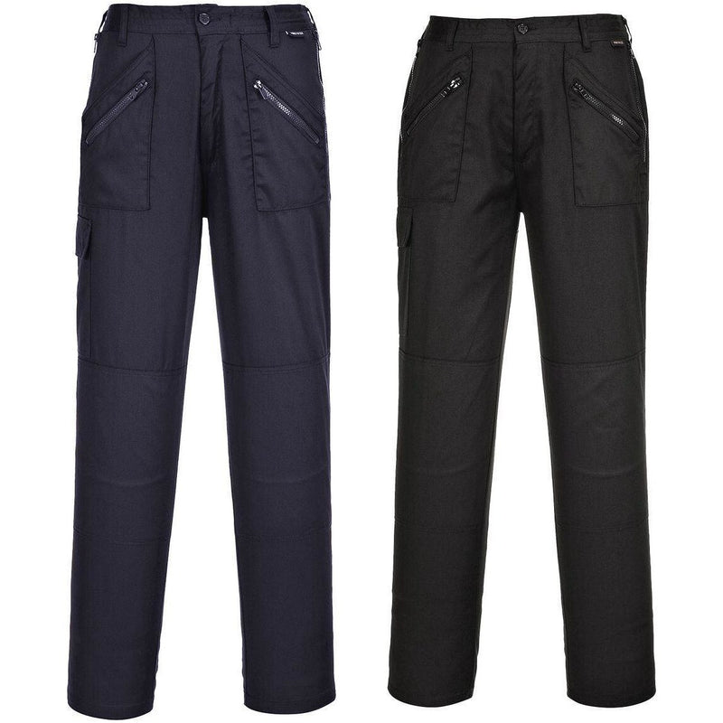 PortWest Ladies Action Trousers Black Regular//Tall Various Size S687