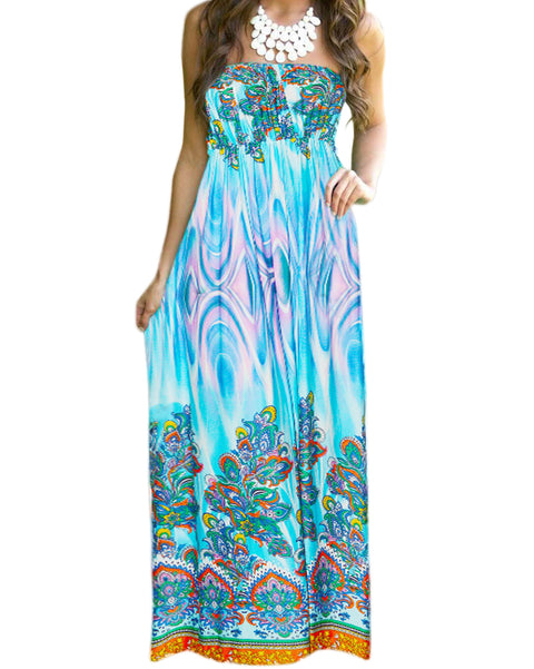 Roiii summer fashion casual long comfortable beach dresses evening dresses