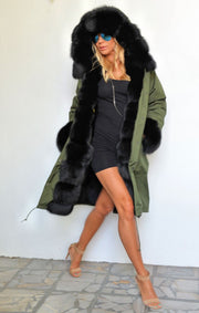 Roiii Women's Thicken Warm Casual Long Winter Faux Fur Hooded Plus Size Parka OverCoat Jacket Coat Plus Size S M L XL XXL 3XL