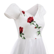 White Rose Lace Dresses