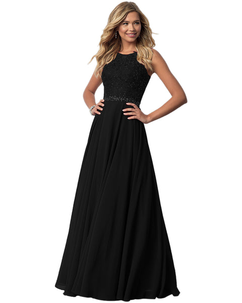 Womens Elegant Chiffon Floral Lace A Line Embroidered Ruched Prom Party Cocktail Wedding Dress