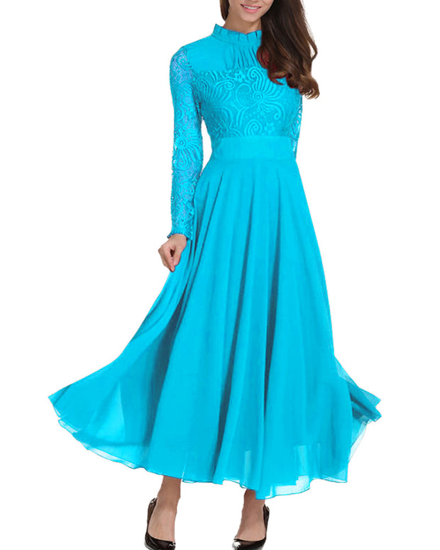 Roiii Summer Fashion Best Selling Lace Slim Long Formal Party Dresses