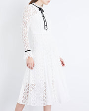 Roiii women's summer beautiful Slim Fit Lace Dresses four color