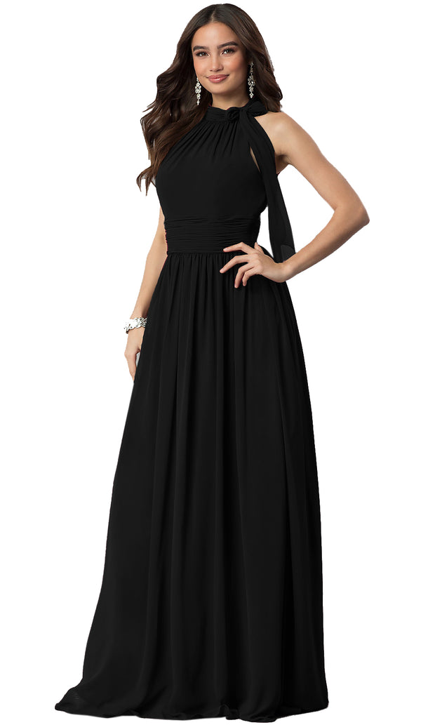 ROIII fashion sexy hanging neck floor-length long party dresses