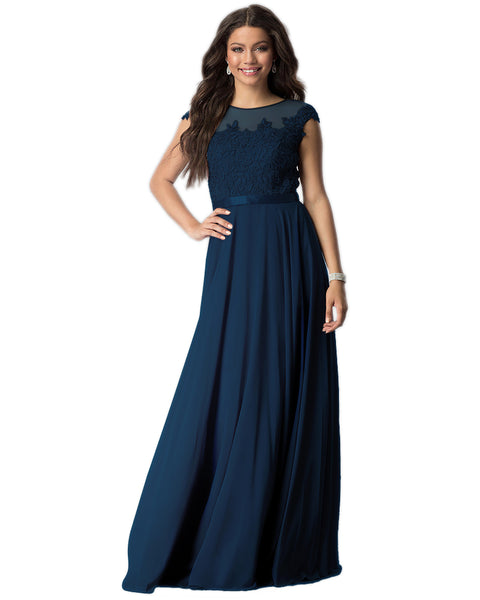 Womens Lace Embroidered Chiffon Summer Maxi Dress Party Evening Bridesmaids Dresses Plus Size S-4XL