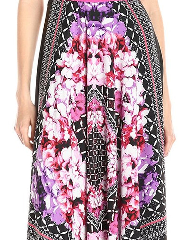 Roiii Womens Summer Floral Print Long Beach Dress Ladies Boho Party Evening Sleeveless Maxi Dresses Plus Size Causal New Style