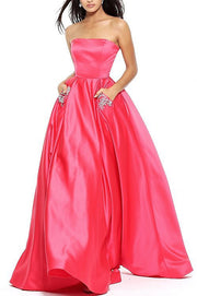 Roiii sexy beautiful sleeveless dresses floor-length dressed party dresses cerise