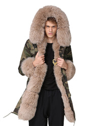 Long Thicken Fur Coat Man Jacket