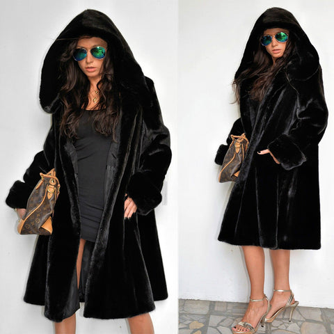 ROIII Punk Style Button Hooded Coat
