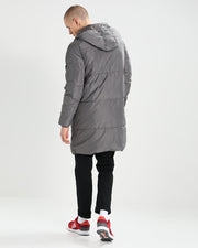 ROIII Men's Winter Warm Cotton Hooded Down Coat