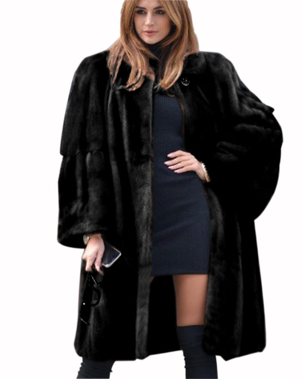 Copy of Bell Sleeve Lapel Collar Faux Fur Winter Coat