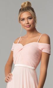 Roiii Strapless Strap One-word Collar Pink Cocktail Evening Party Prom Dress