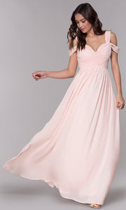 ROIII Sexy V-neck Sling strapless floor-length Pink Cocktail Evening Party Prom Dress
