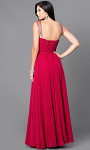 ROIII V-neck Sling Backless Floor-length Black Evening Party Prom Dress