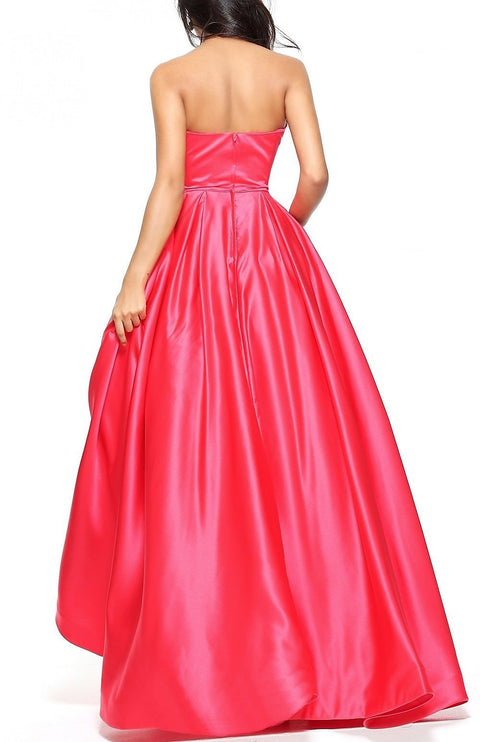 Roiii fashion beautiful sleeveless dresses floor-length dressed party dresses fuchsia