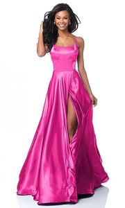 Roiii backless Leg split floor-length long royal ruby color party dresses