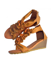 Roiii summer fashion hot sell Middle heel casual shoes