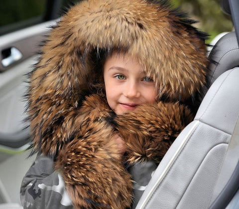 Fur Hooded Parka Children Thicken Warm Outwear Girls Clothing Kids Jackets