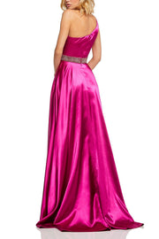 Roiii fashion sexy dew shoulder sequin floor-length long dresses royal party dresses fuchsia