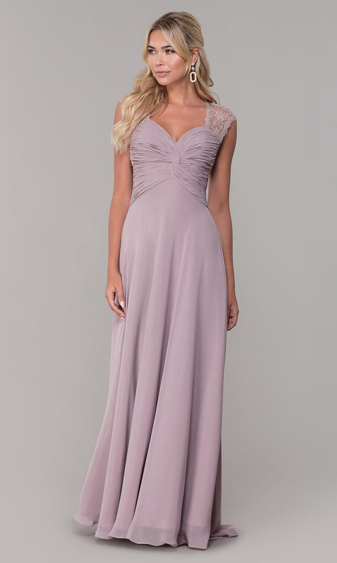ROIII Lace shoulder strap slim Purple Cocktail Evening Party Prom Dress