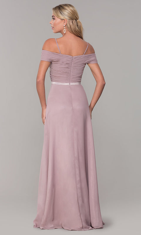 Roiii Strapless Strap One-word Collar Light Purple Cocktail Evening Party Prom Dress